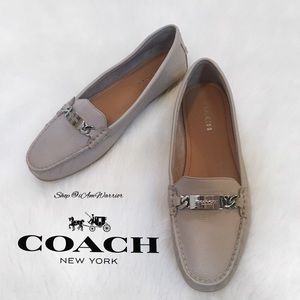 Coach new pebble leather 'Olive' style loafers
